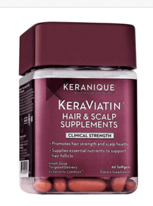 Keranique KeraViatin Hair & Scalp Health Supplements- Best drug-free supplement